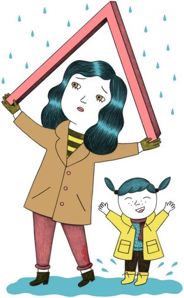 V wie Verantwortung – Illustration von Ana Albero für eine Kolumne im Magazin »Missy«. www.ana-albero.com