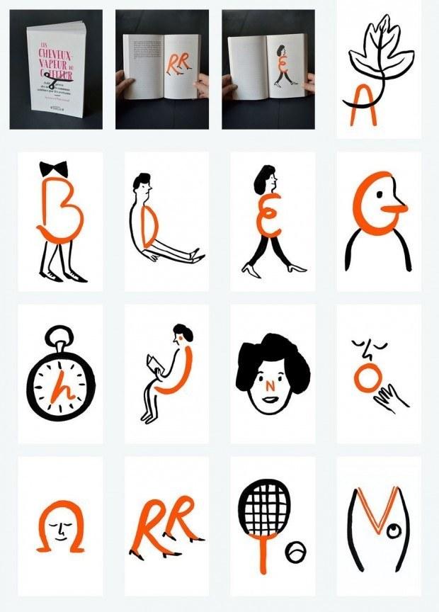 Für ein alphabetisch nach Kapiteln geordnetes Buch hat Marie Assénat dieses reizende Alphabet gezeichnet. www.marieassenat.com/#/alphabet/