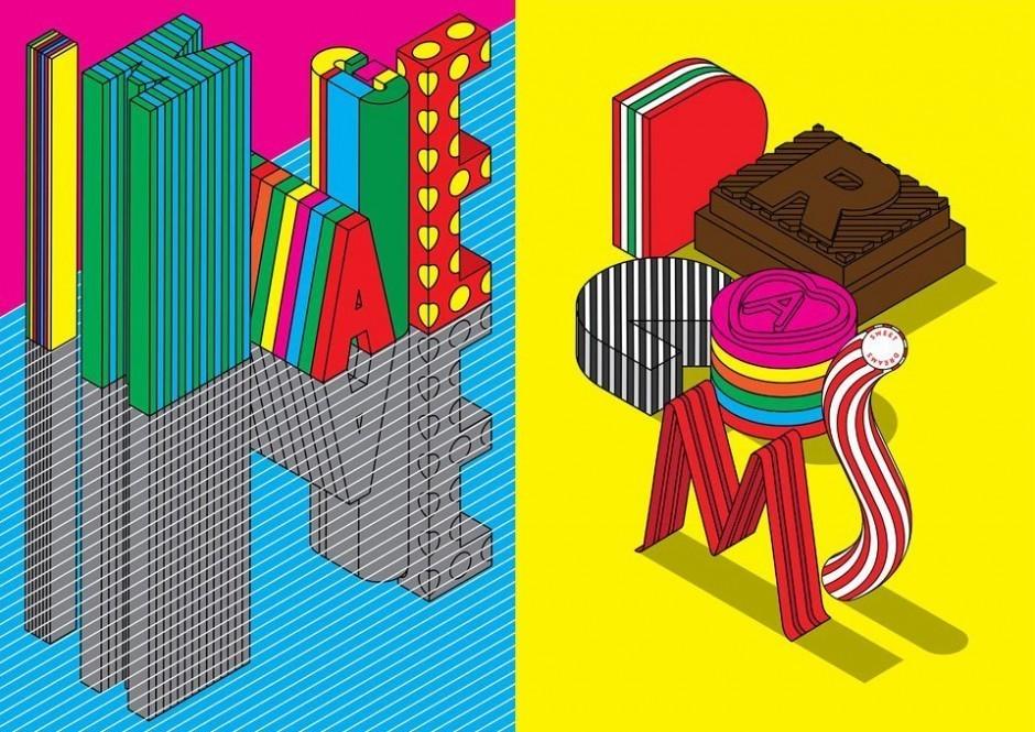 Plakate, die Steven Wilson aus Brighton kürzlich in einer Ausstellung gezeigt hat. http://www.stevenwilsonstudio.com