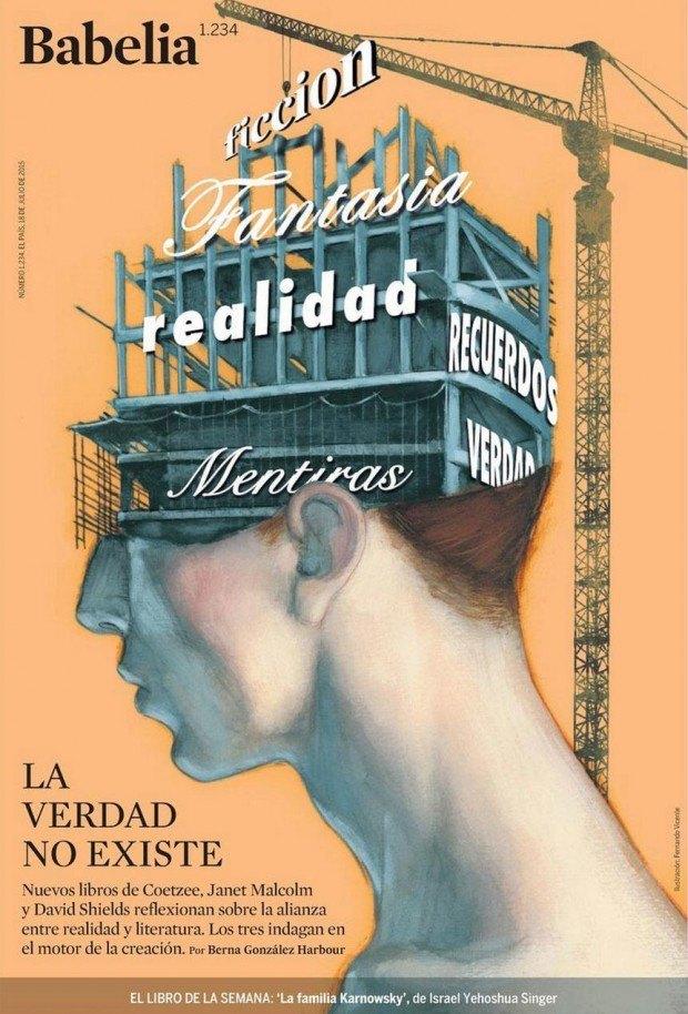 Es gibt keine Wahrheit … Cover von von Fernando Vicente für die Literaturbeilage der spanischen Zeitung »El País«, www.fernandovicente.es