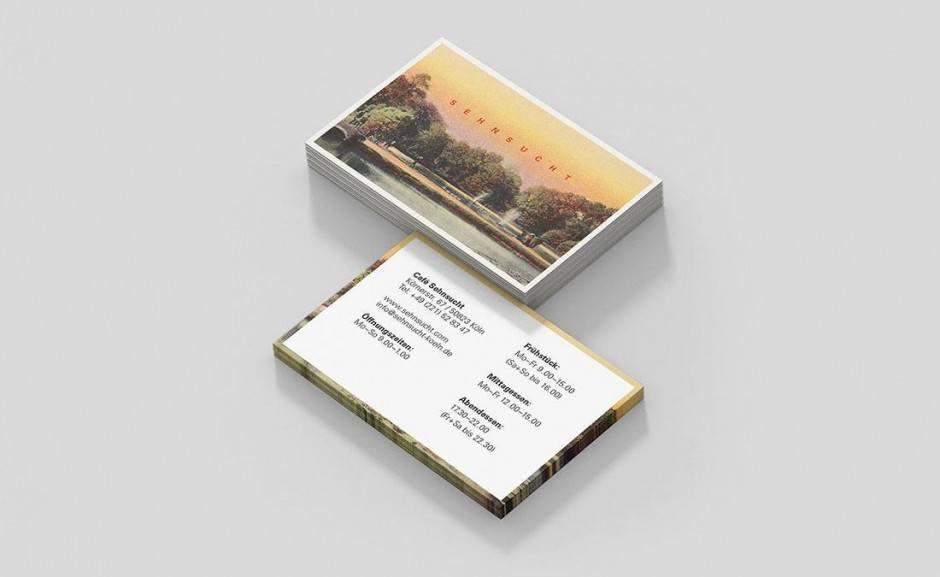 Café Sehnsucht – Visitenkarten