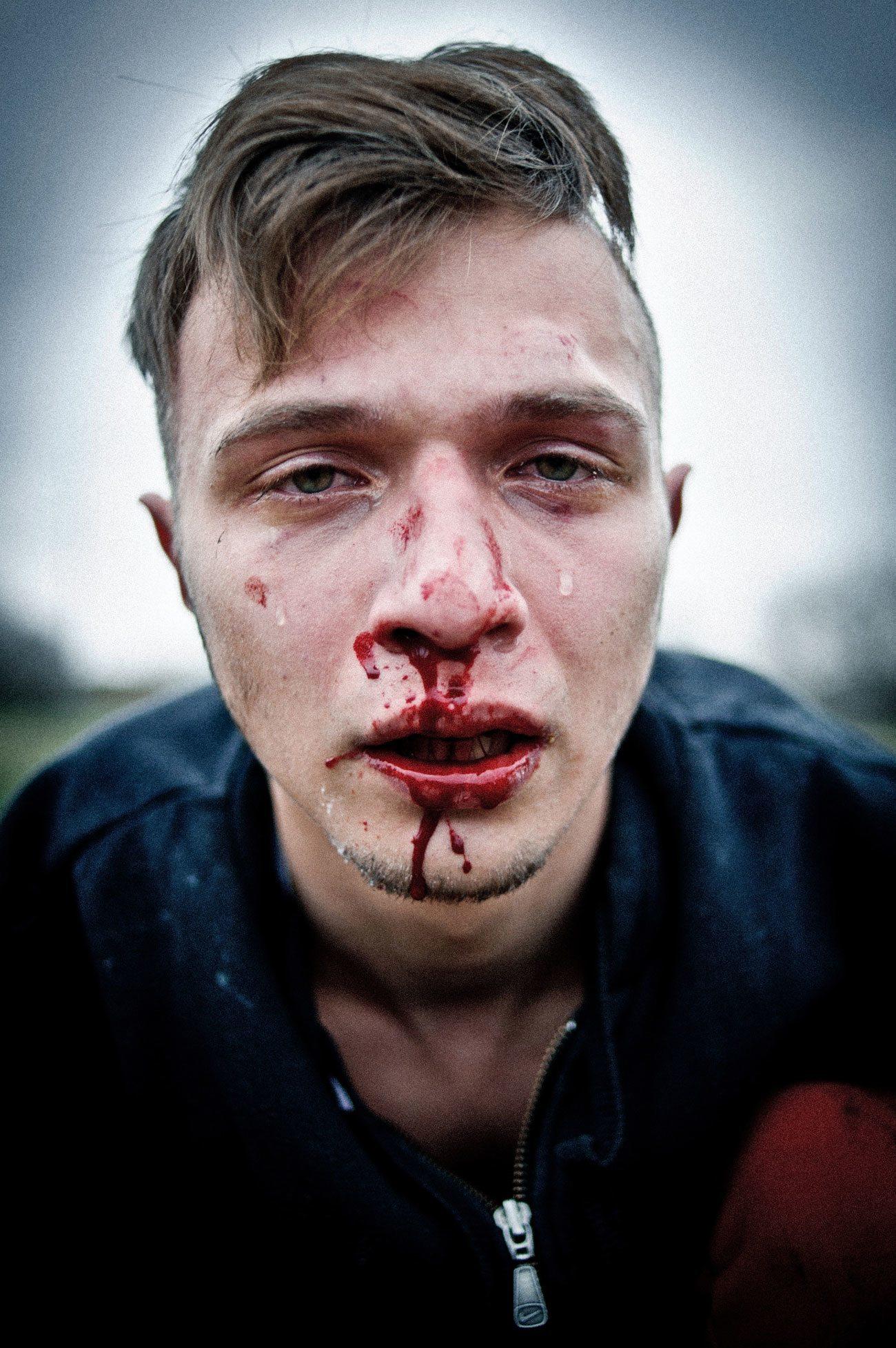 LeadAwards 2015: Andrew Lubimov, Hooligans. Erschienen in Vice Nr. 9/2014. Nominiert in der Kategorie Reportagefotografie des Jahres