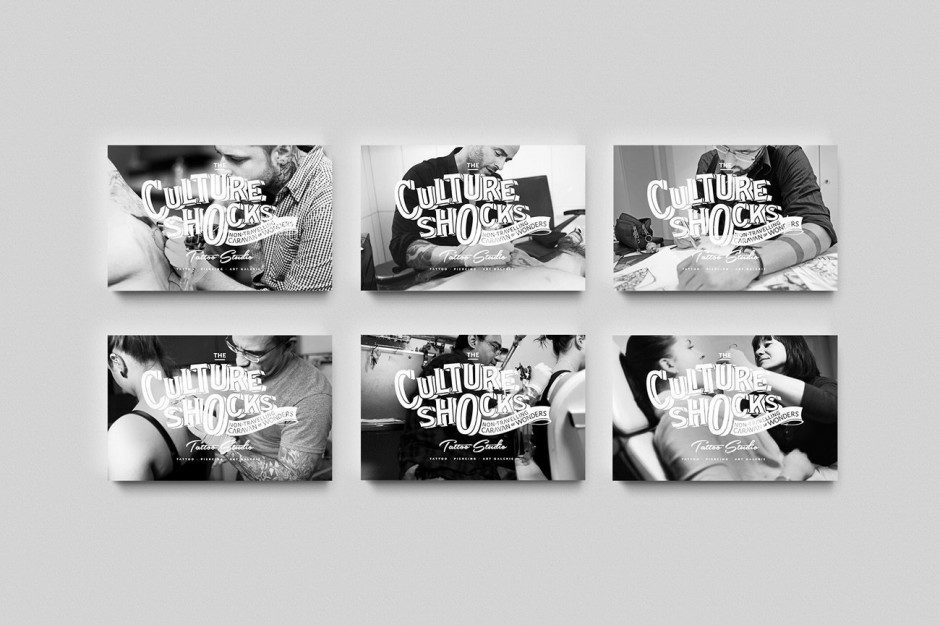 Corporate Design Relaunch des Wolfsburger Tattoo Studios »The Culture Shocks – The non-travelling caravan of wonders