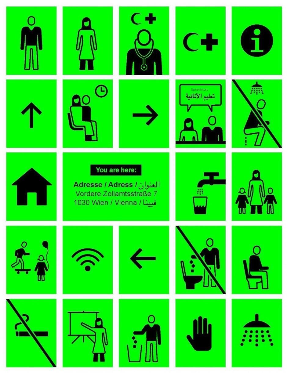 Infosystem für Flüchtlinge