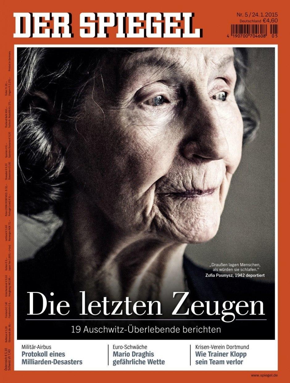 Cover des Jahres | Gold: Spiegel Nr. 05/2015 – Die letzten Zeugen