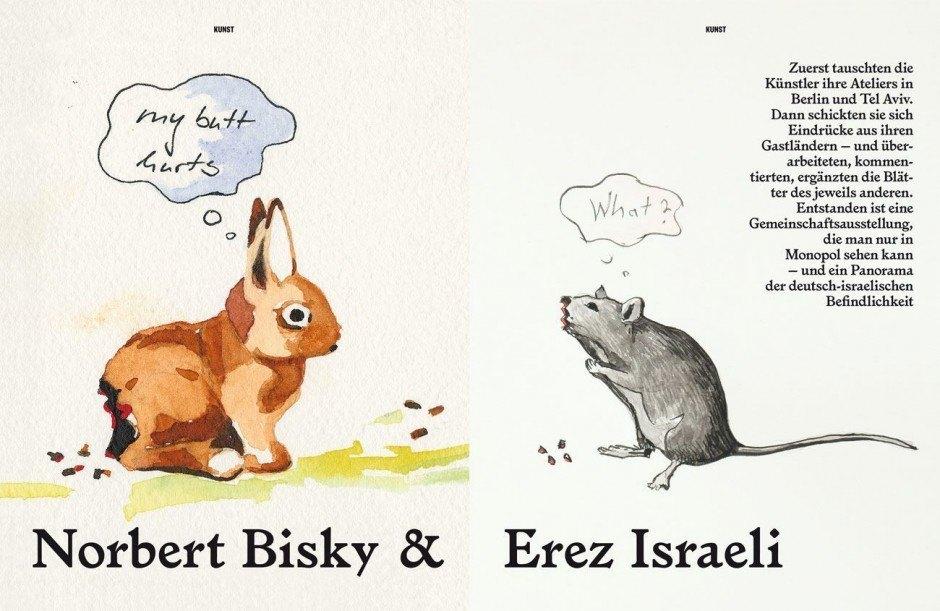 Künstler Erez Israeli und Norbert Bisky
