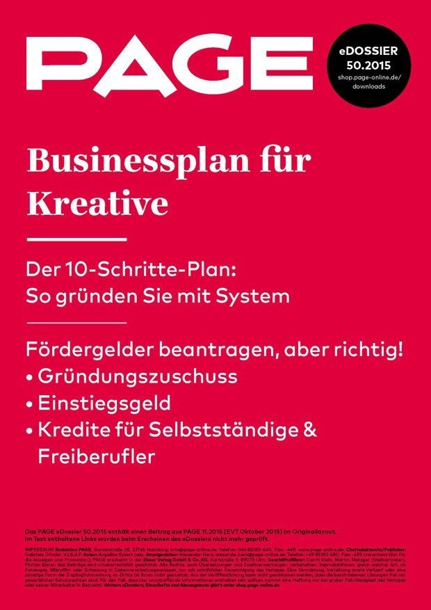 edossier_502015_businessplan kreative_teaser - Rentabilittsvorschau Muster
