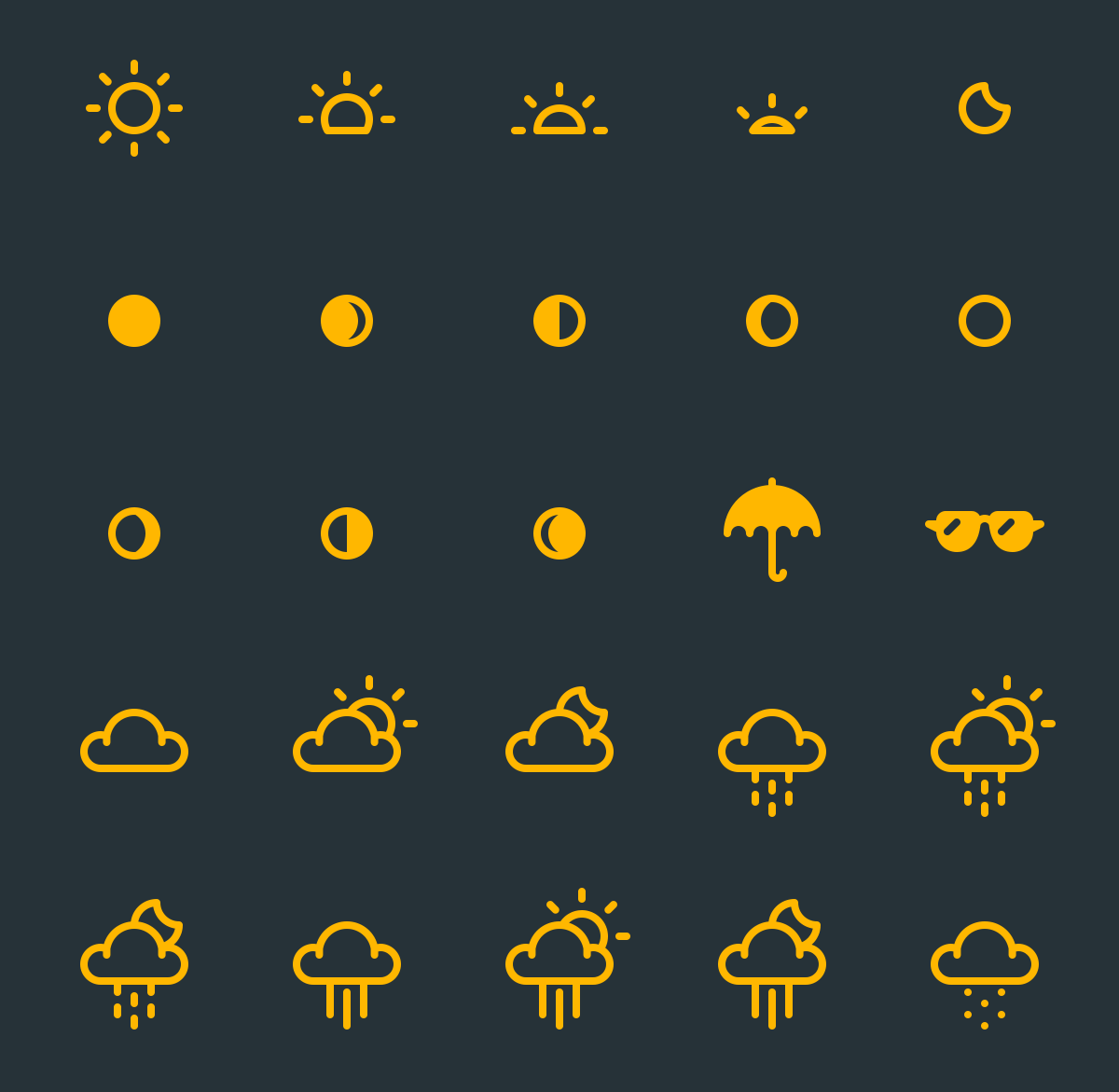 Kostenlose Icons, Wetter Icons