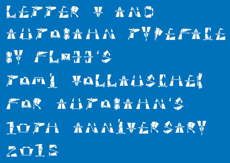 Autobahn Letter V Text