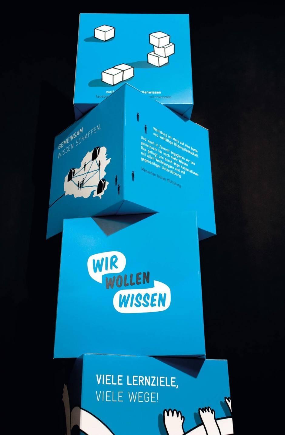 Insgesamt 164 Illustrationen fertigte Stefan Mosebach für die umfangreiche, von Karl Anders konzipierte Kampagne »Wir wollen es wissen« der Stadt Wolfsburg an