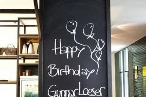 Geburtstagsgrüße am Empfang