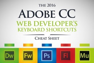 Adobe, Adobe CC, Cheat Sheet, Keyboard Shortcuts