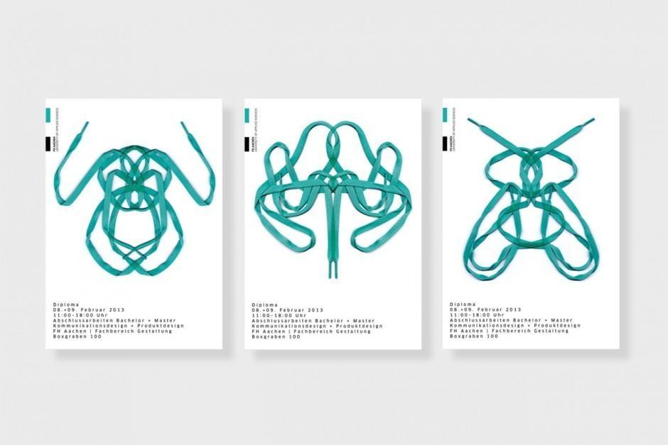 Konzeption und Gestaltung einer Plakatkampagne für die Diploma der FH Aachen