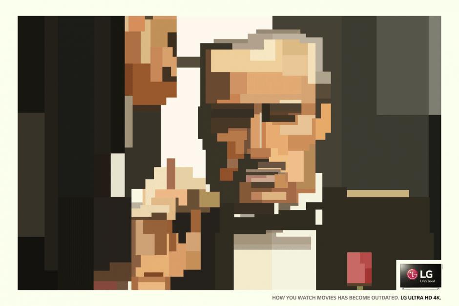 Ob »Forrest Gump«, »Der Pate« oder »Shining«: Mit 4K-Monitoren von LG macht das deutlich mehr Spaß, so die Message dieser Kampagne von Y&R, São Paulo mit Bildern von Adam Lister