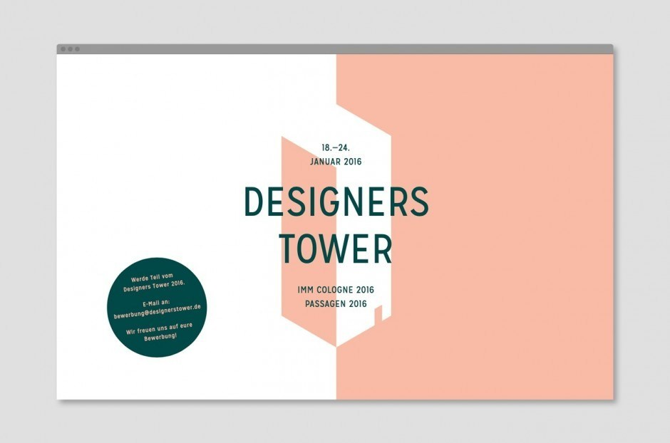 Designers Tower – Website für die Ausstellung Designers Tower