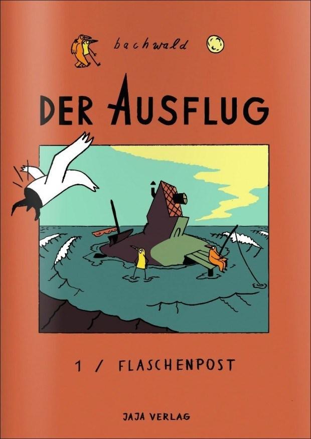 bachwald: Der Ausflug - Teil 1 / FLASCHENPOST. Jaja Verlag, Berlin. Softcover, Fadenheftung. 17 x 24 cm, 72 Seiten in Farbe. 14 Euro ISBN 978-3-943417-71-5