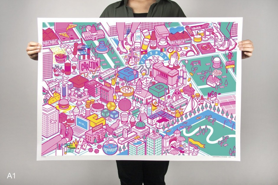 Melbourne City Map by Ellen Porteus