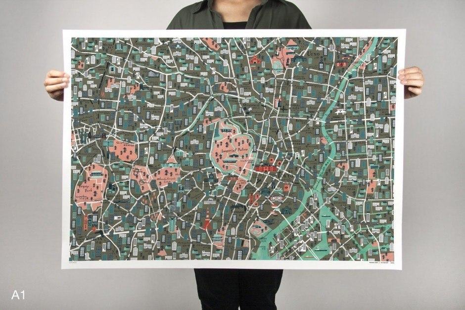 Tokyo City Map by Masako Kubo