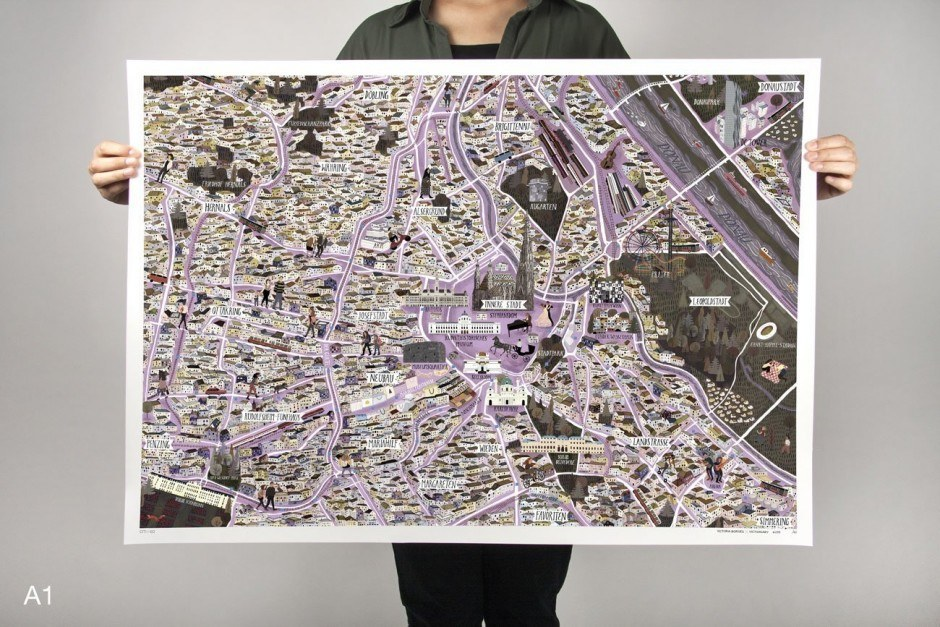 Vienna City Map by Victoria Borges