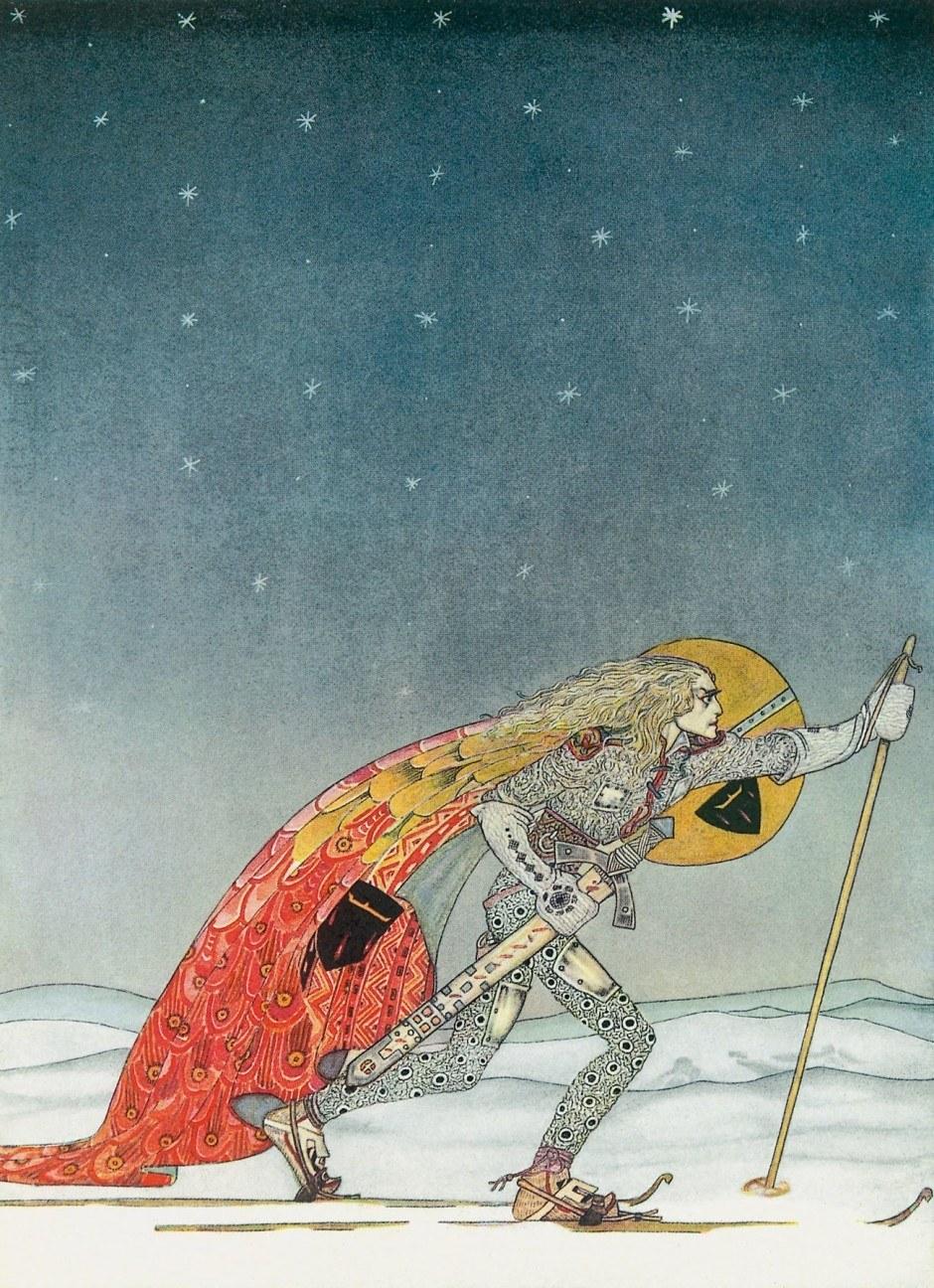 Illustration von Kay Nielsen aus dem beim Taschen Verlag erschienenen Märchenprachtband »Östlich der Sonne und westlich des Mondes«