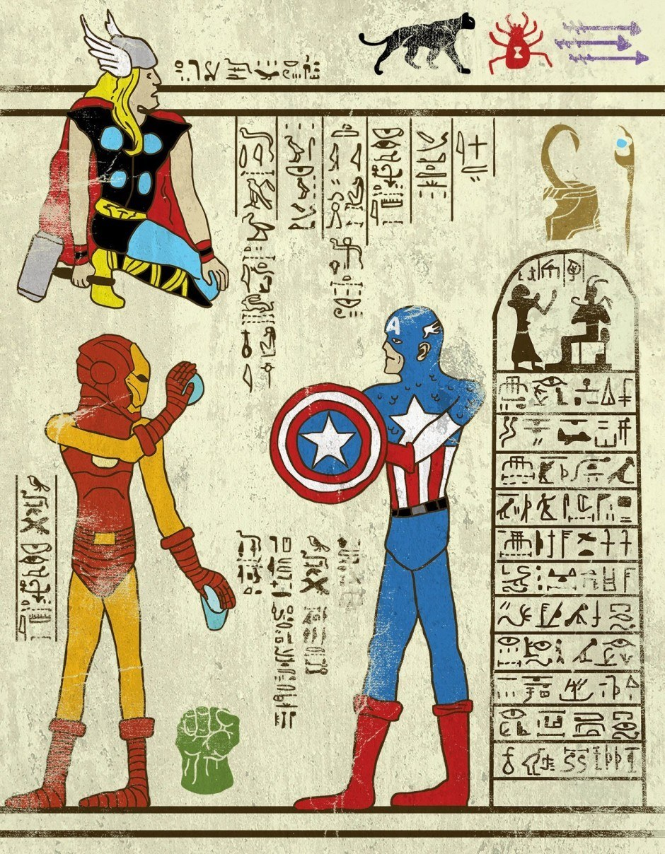 Hero-Glyphics: Avengers