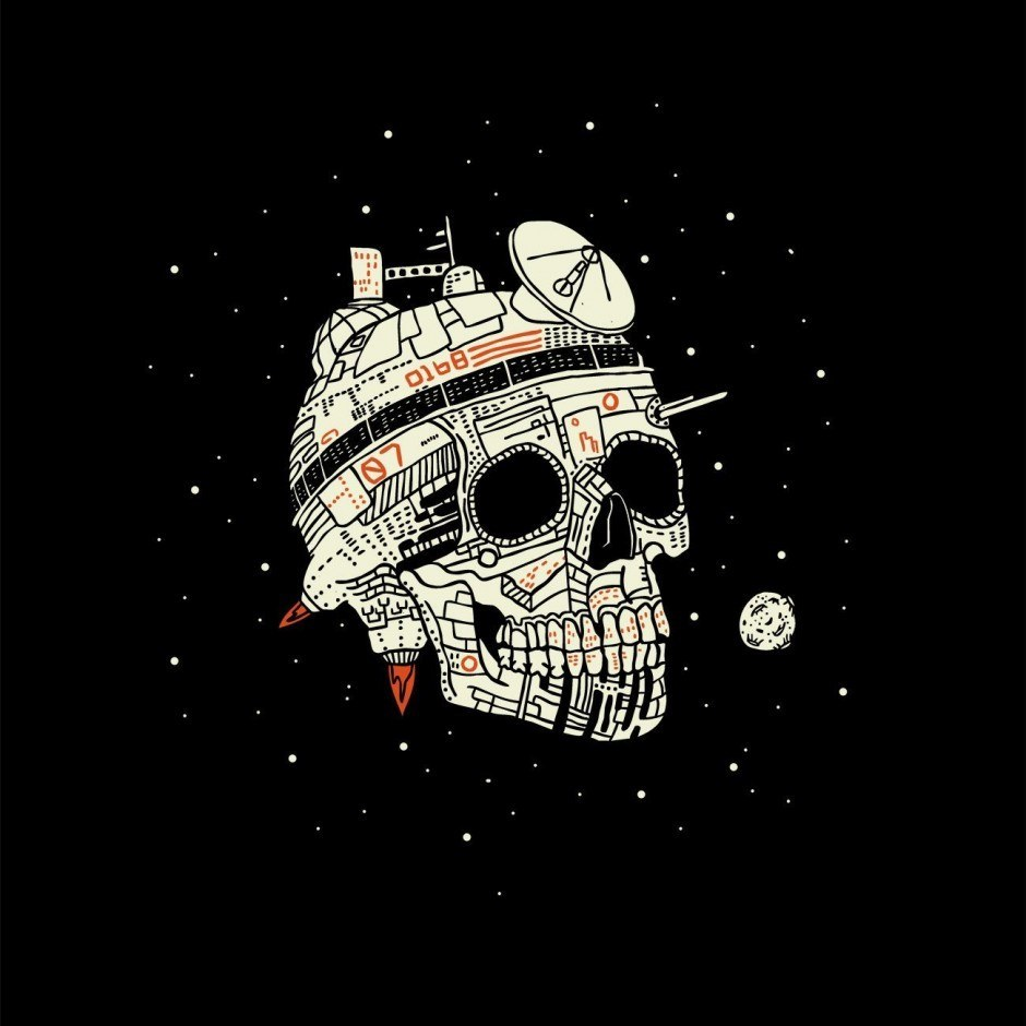 Planet Space Skull