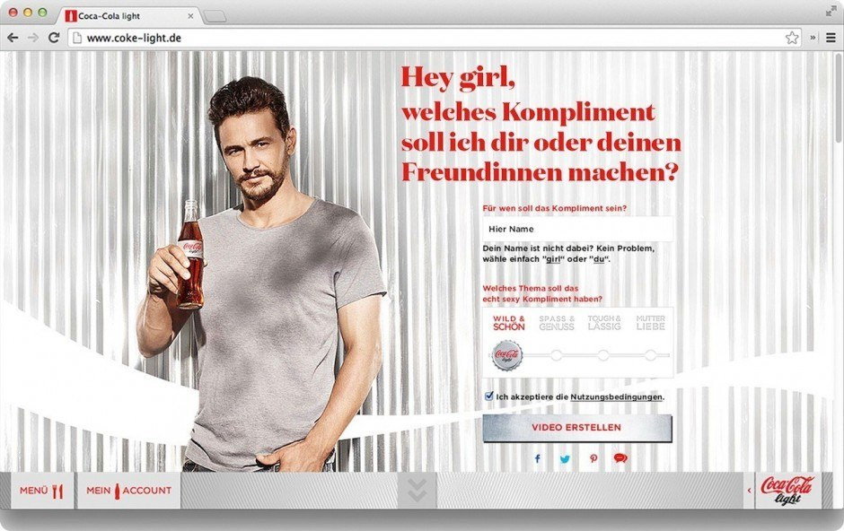 Bronze Social Media: Komplimentegenerator von Ogilvy & Mather für Coca-Cola
