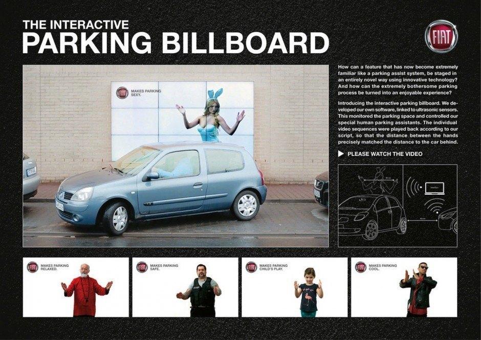 Bronze Innovation: Interactive Parking Billboard von Leo Burnett für Fiat