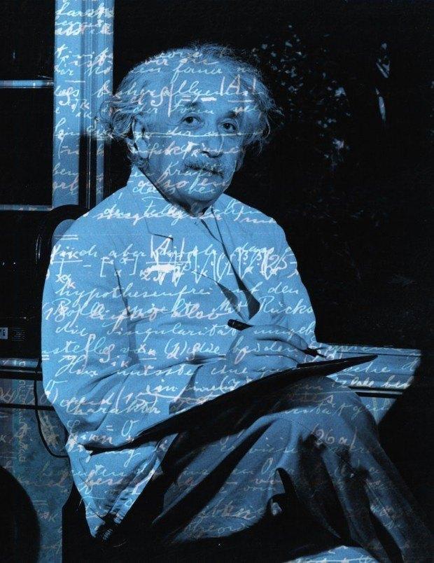 Bild von Harald Geisler. Die Manuskripte wurden mit freundlicher Genehmigung des Albert Einstein Archivs der Hebräischen Universität in Jerusalem verwendet. © Bettmann/Corbis