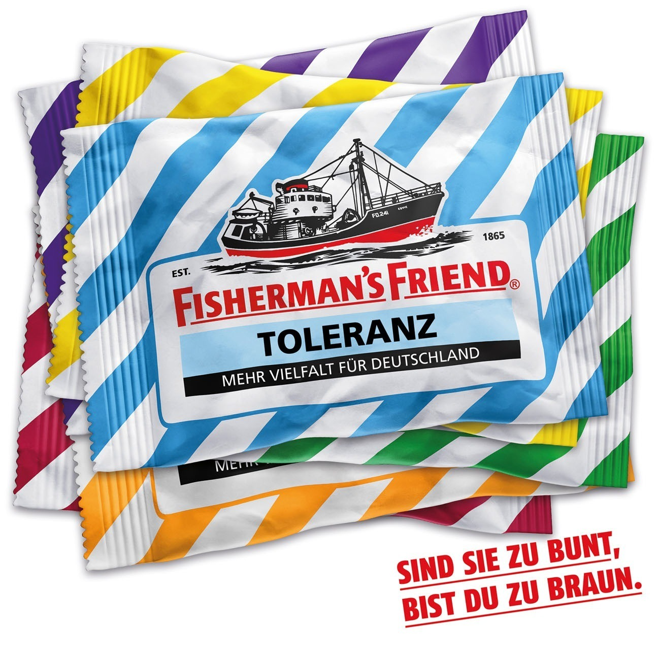 Gold Social Media: Toleranz-Posting von Scholz & Friends für Fisherman's Friend