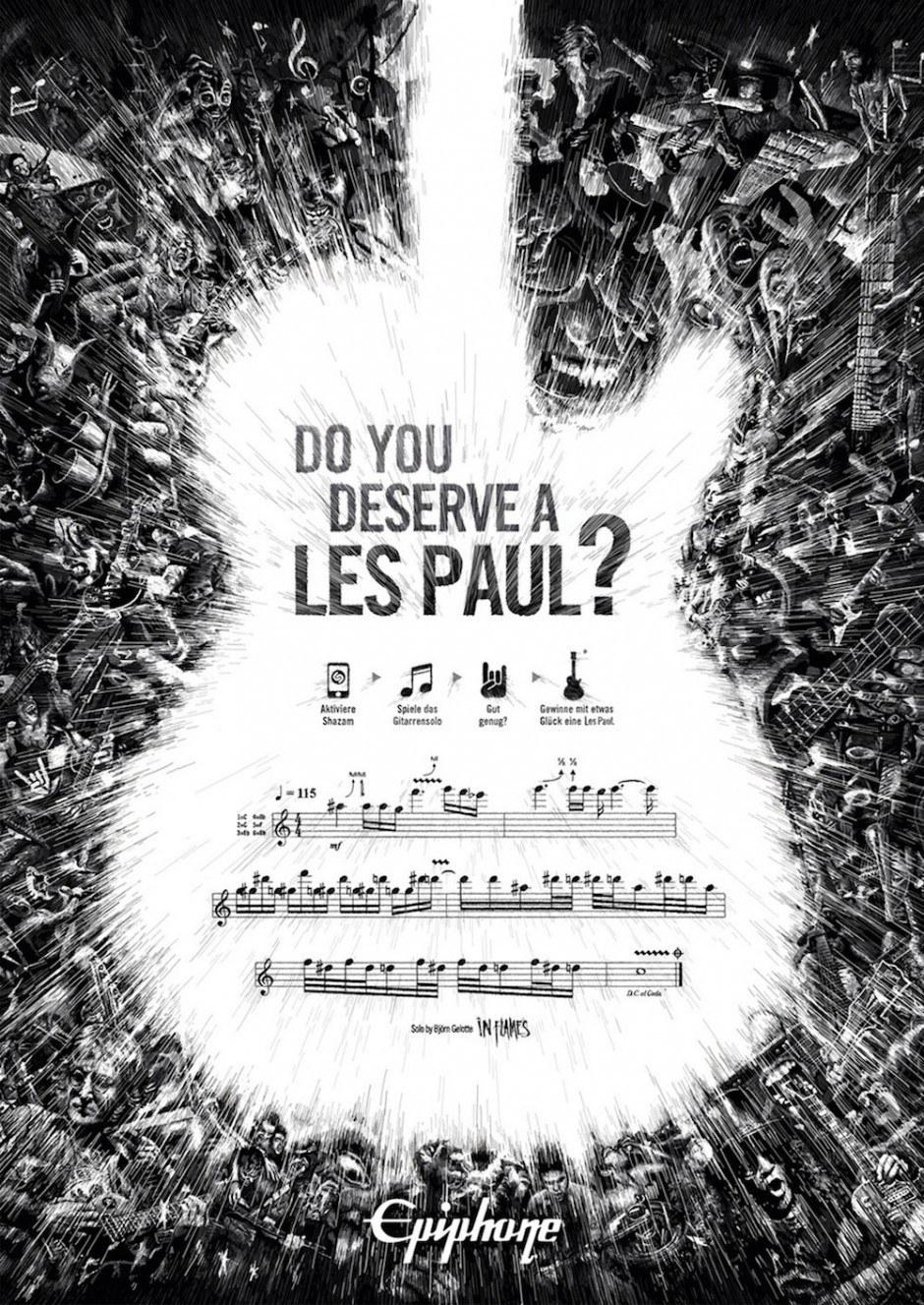 Gold Mobile Apps: Les Paul Skill Check von Serviceplan für Gibson Guitar