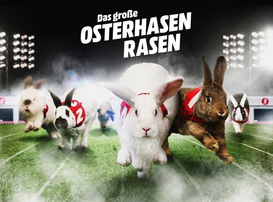 Grand Prix Integrierte Kampagneund Gold Promotion: Osterhasenrasen von Ogilvy & Mather für Media Markt
