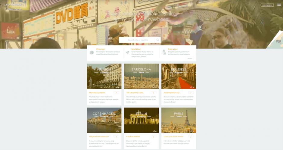 Gold Produkt- und Servicewebseiten: Lufthansa CityNavigator von Cheil