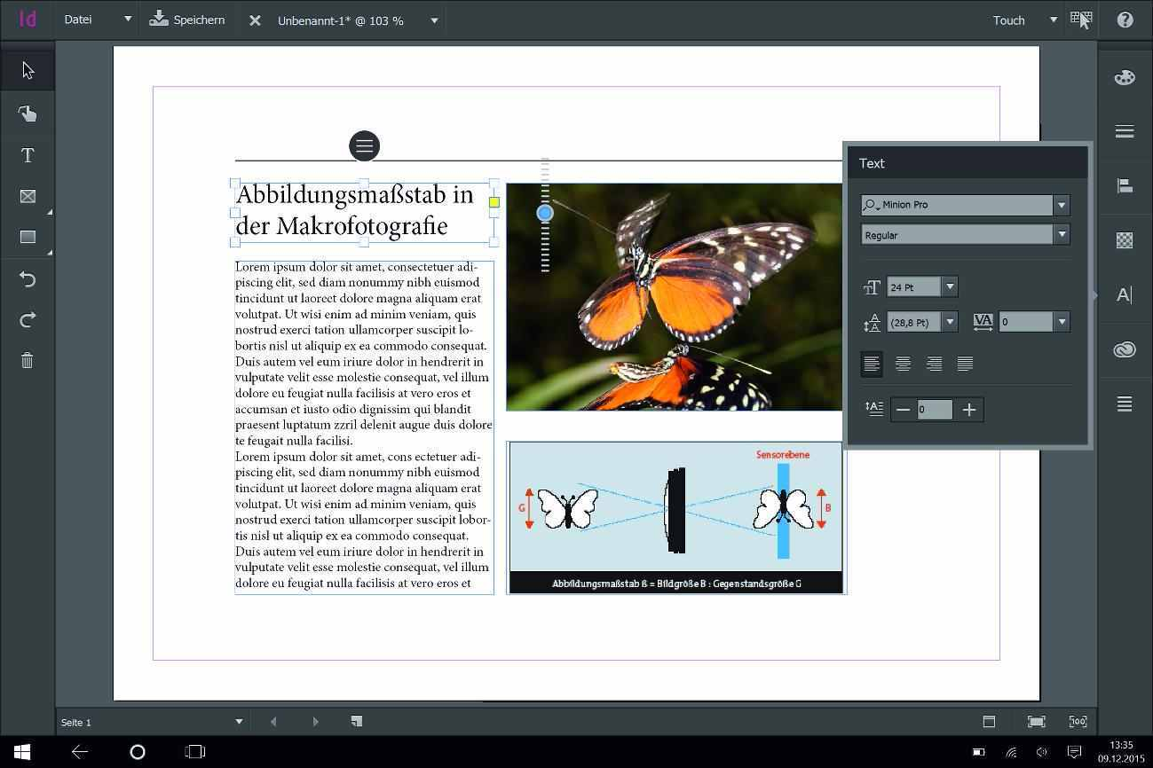 InDesign Touch