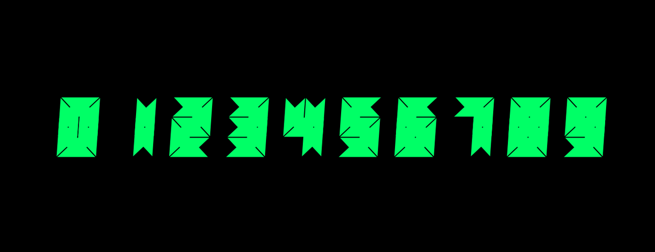 A modular typeface with two parameters to generate various instances based on LCD fonts