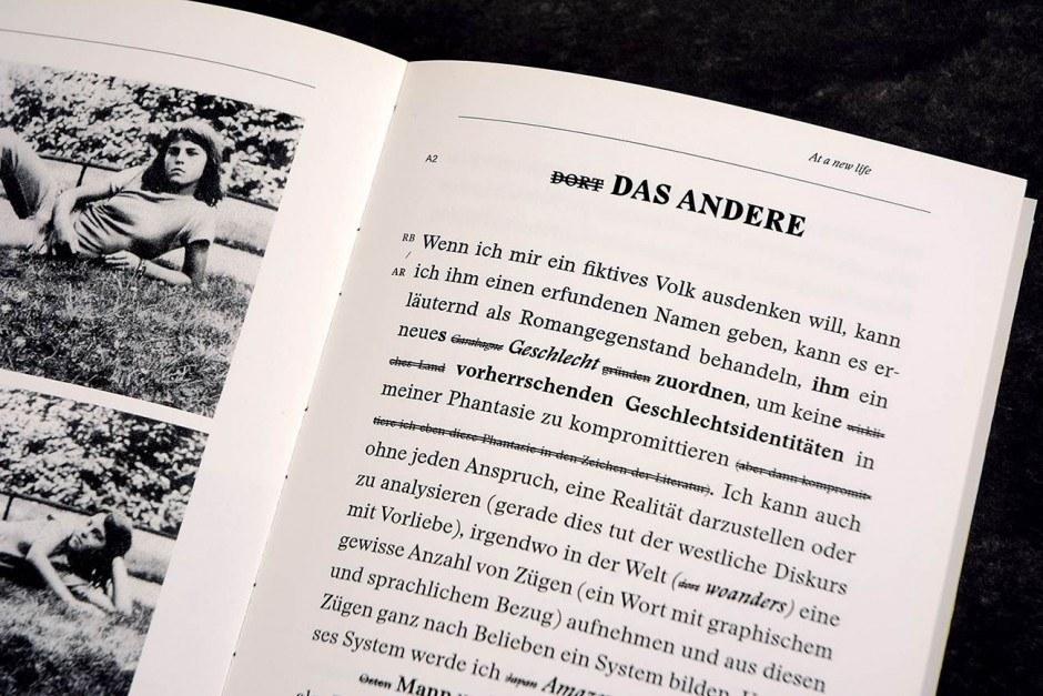 ÜBER AMAZONEN, Künstlerbuch – Detail