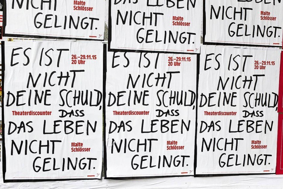 Theaterdiscounter Berlin, Plakat