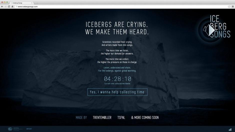 Iceberg Songs – Website