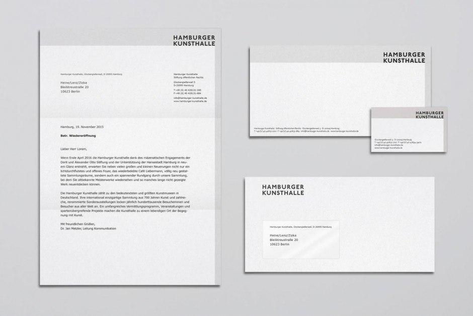 Hamburger Kunsthalle – Geschäftsausstattung