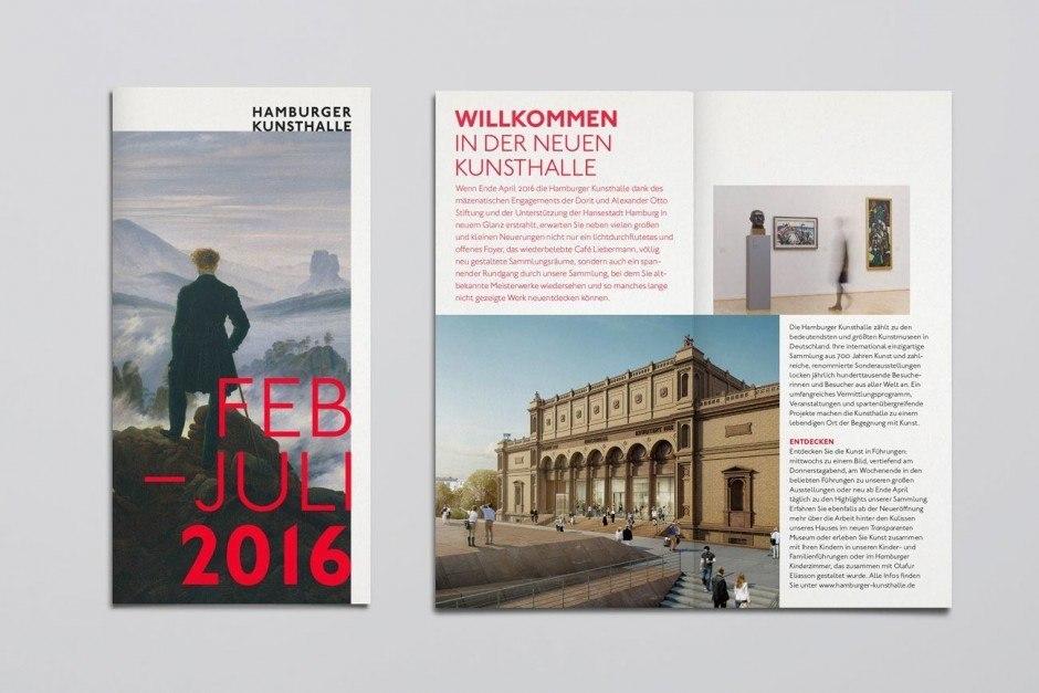 Hamburger Kunsthalle – Halbjahresflyer