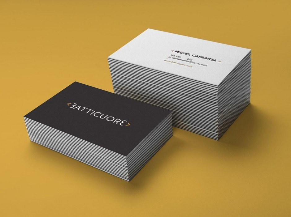 Batticuore Businesscards