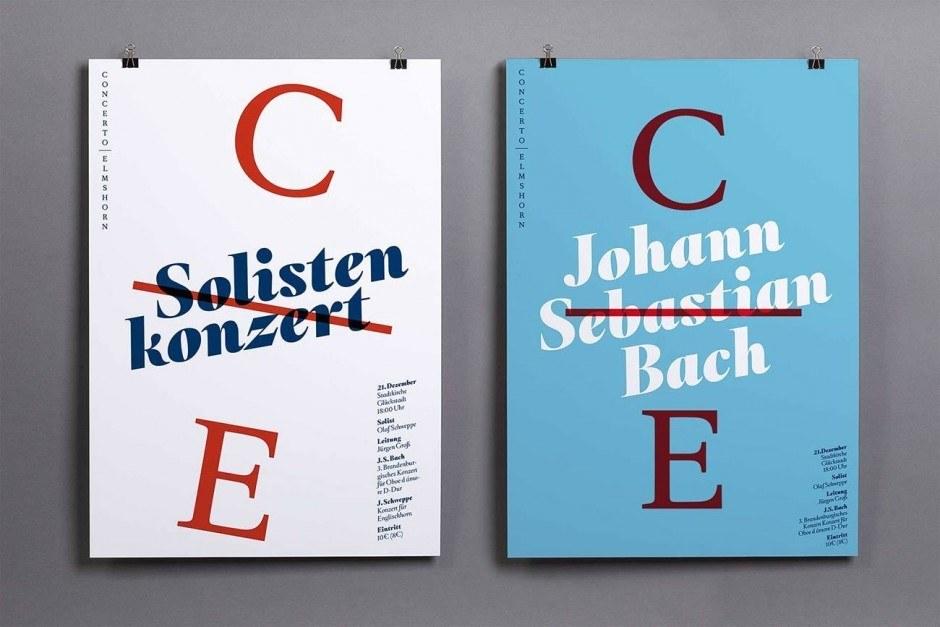 Veranstaltungsplakate für das Orchester »Concerto Elmshorn«.