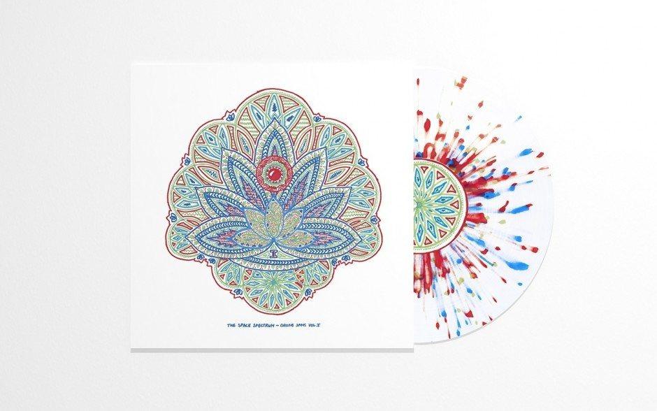 Covergestaltung für »The Space Spectrum«: psychedelisch, roh und analog.