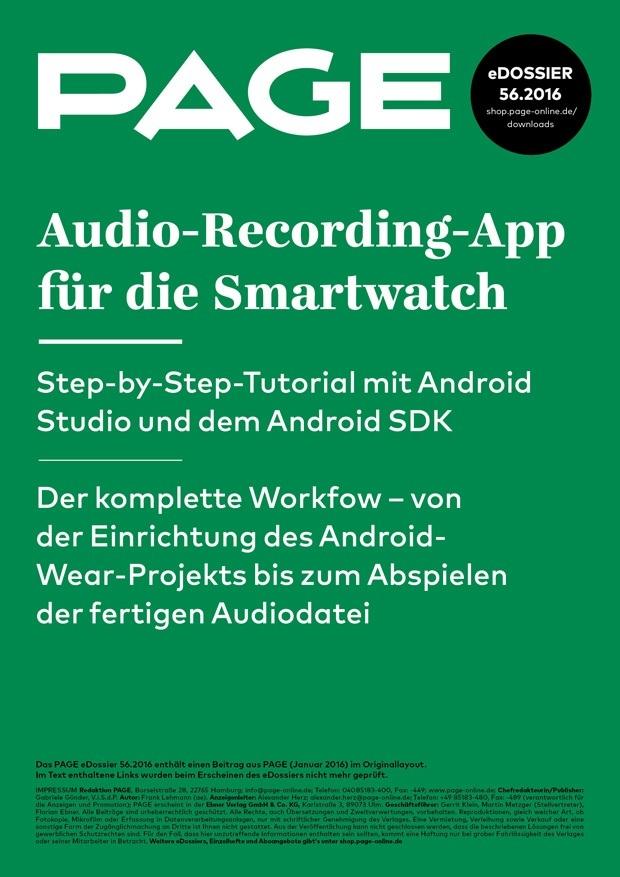 Android SDK, Android App programmieren, Smartwatch, eigene App erstellen. Android-Programmierung, Android-Studio-Tutorial, Voice-Recorder-App, Android Studio, Android App Development, Android-SDK-Download, Android Wear, Android Wear Emulator, Android Developer