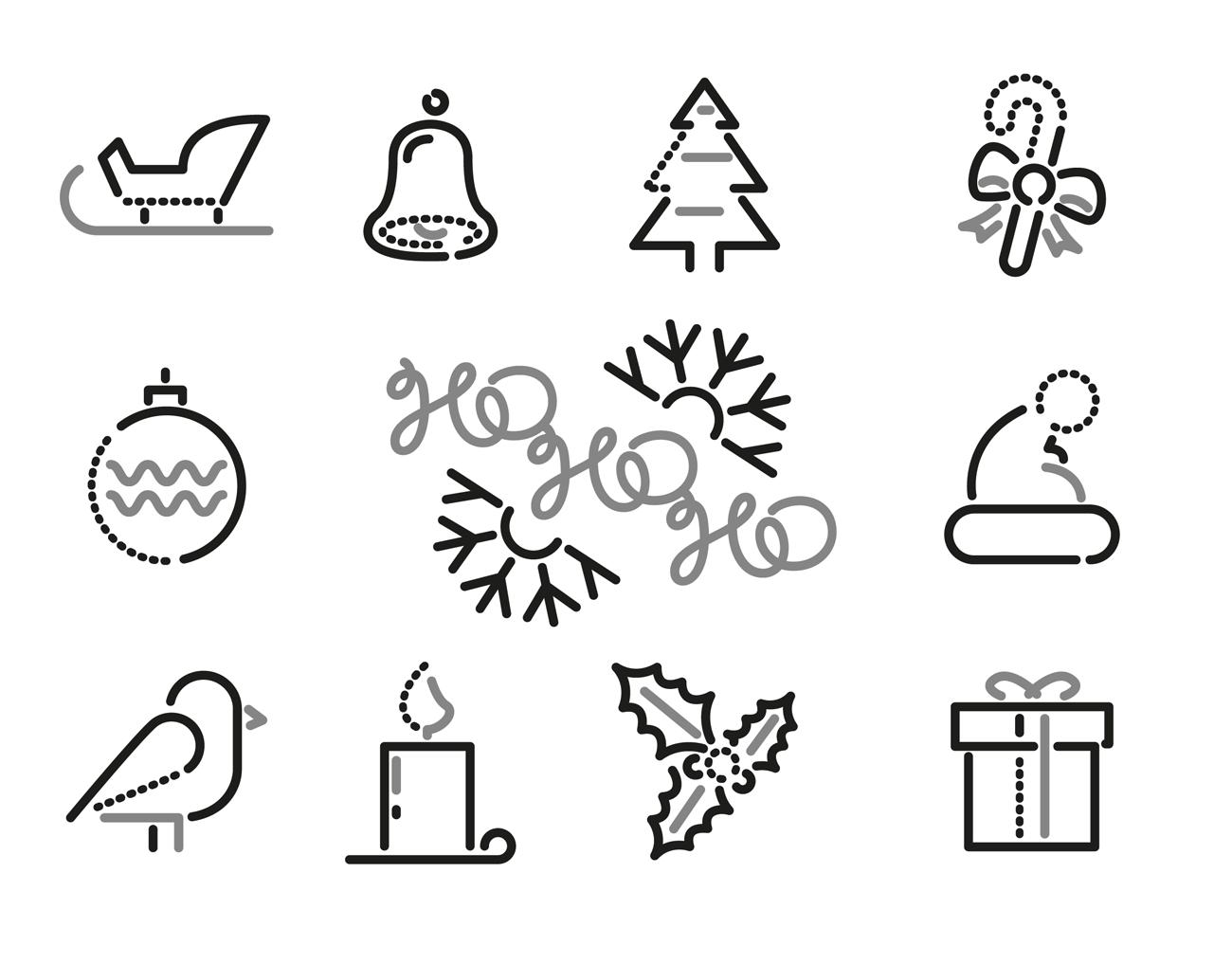 Weihnachtsmotive Schwarz Weiß Kostenlos.Kostenlose Weihnachts Icons Und Piktogramme Page Online