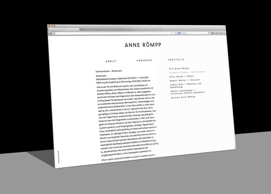 Anne Römpp – Website
