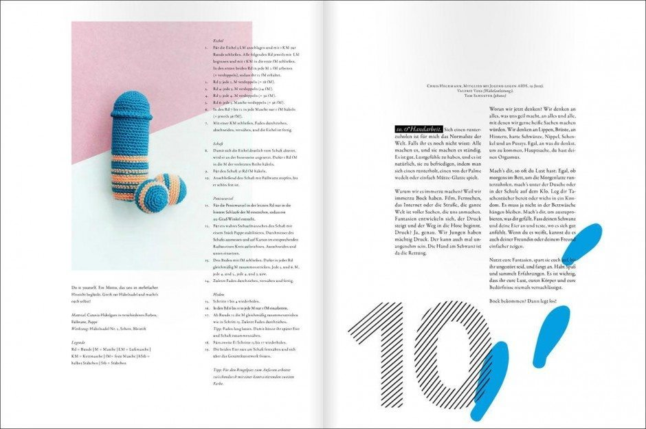 Loved & Found #10. The Sex Issue. Häkelanleitungen zum Thema Handarbeit