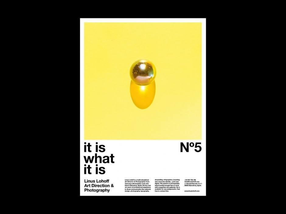 Self-Promotion per Plakat im Web – Linus Lohoff präsentiert sich mit abstrakten Fotoillustrationen