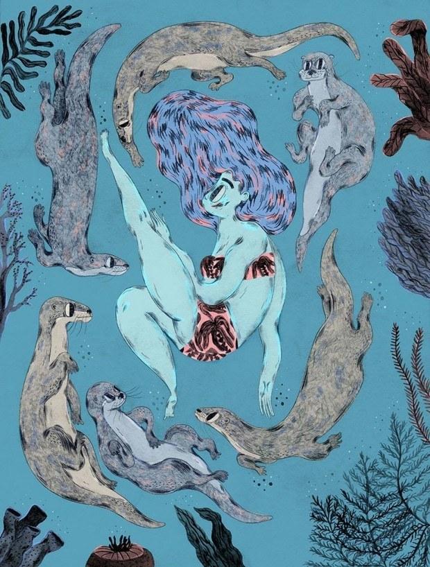 Das Buch »Contemporary Danish Illustration«, erschienen beim Arvinius Verlag in Stockholm, stellt 32 herausragende Illustratoren aus Dänemark vor. Darunter Josphine Kyhn