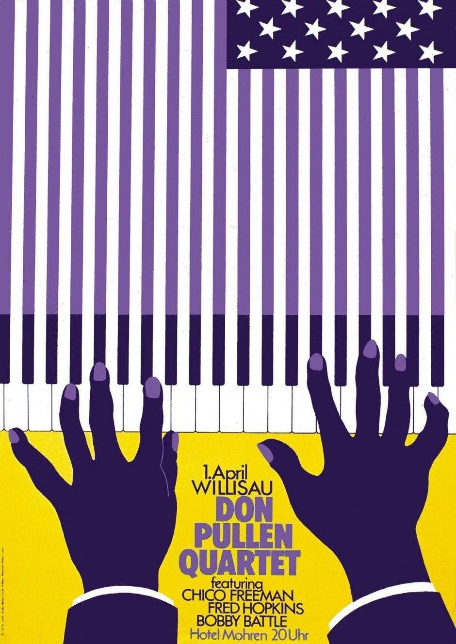 Niklaus Troxler – Plakat Don Pullen Quartet, 1978